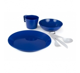 Zestaw naczyn CASCADIAN 1 PERSON TABLE SET blue