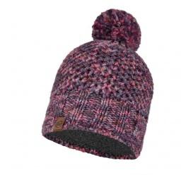 Buff Knitted & Fleece Band Hat MARGO PURPLE