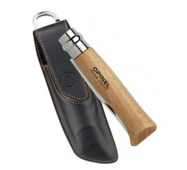 Nóż Inox Natural + etui No.08