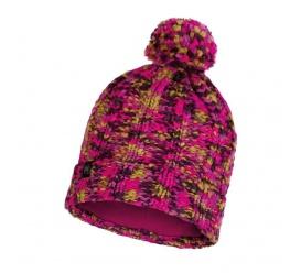 BUFF Czapka Zimowa Knitted & Fleece Hat Livy MAGENTA