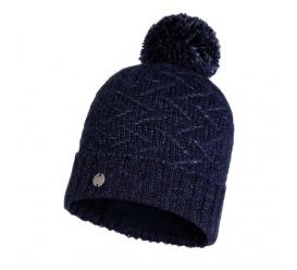 BUFF Czapka Knitted & Fleece Hat Ebba NIGHT BLUE