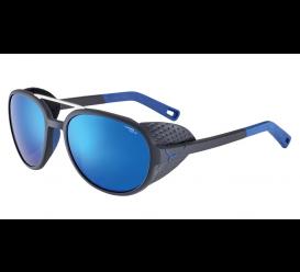 Okulary CEBE Summit Matt Black Blue 4000 Grey Mineral AR Blue Flash Mirror Cat. 4