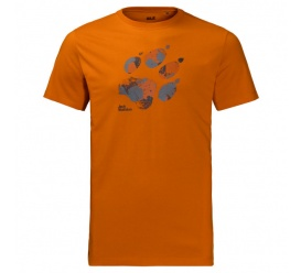 T-shirt MARBLE PAW T MEN desert orange
